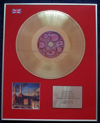 PINK FLOYD - Limited Edition CD 24 Carat Gold Coated LP Disc - ANIMALS