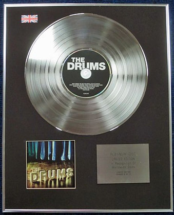 THE DRUMS - Limited Edition CD Platinum Disc