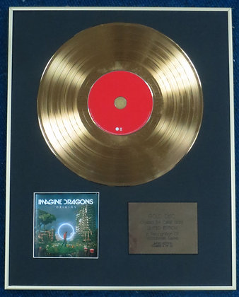IMAGINE DRAGONS - Limited Edition CD 24 Carat Gold Coated LP Disc - ORIGINS