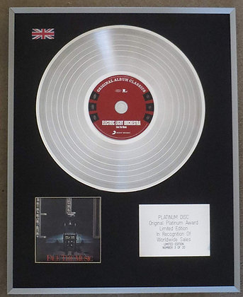 Electric Light Orchestra - Limited Edition CD Platinum LP Disc - Face the Music
