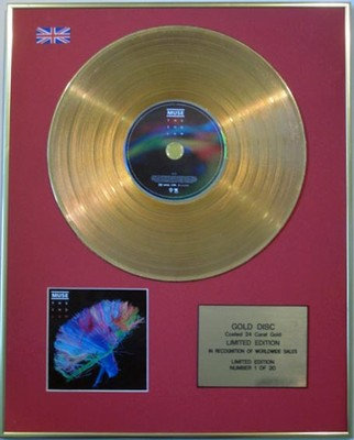 MUSE  - Ltd Edition CD Gold Disc - THE 2ND LAW
