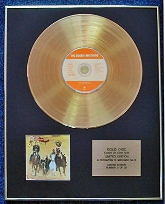 The Doobie Brothers - Limited Edition CD 24 Carat Gold Coated LP Disc - Stampede