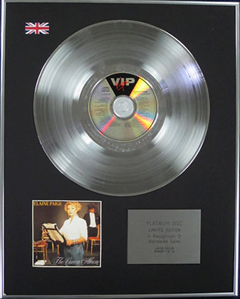 ELAINE PAIGE - Limited Edition CD Platinum Disc - THE QUEEN ALBUM
