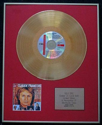 Claude Francois  Ltd Edition CD 24 Carat Gold Coated LP Disc -Album Souvenir
