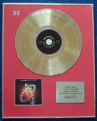 Mike Oldfield - 24 Carat Gold Coated LP Disc -Music of the Spheres