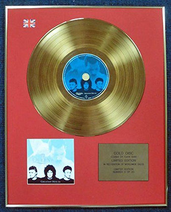 Queen - Limited Edition CD 24 Carat Gold Coated LP Disc - Greatest Hits III