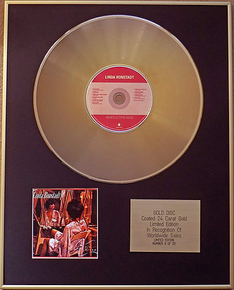 LINDA RONSTADT - Exclusive Limited Edition 24 Carat Gold Disc - SIMPLE DREAMS