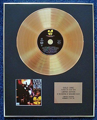 Wu-Tang Clan - Limited Edition CD 24 Carat Gold Coated LP Disc - Enter The Wu…