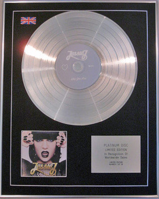 JESSIE J  - Limited Edition CD Platinum Disc- WHO YOU ARE