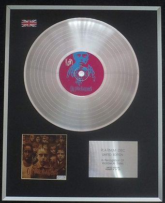 Korn - Limited Edition CD Platinum LP Disc - Untouchables