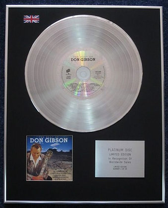 Don Gibson - Limited Edition CD Platinum LP Disc - Best Of