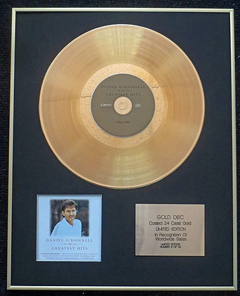Daniel O'Donnell - Exclusive Limited Edition 24 Carat Gold Disc - Greatest Hits
