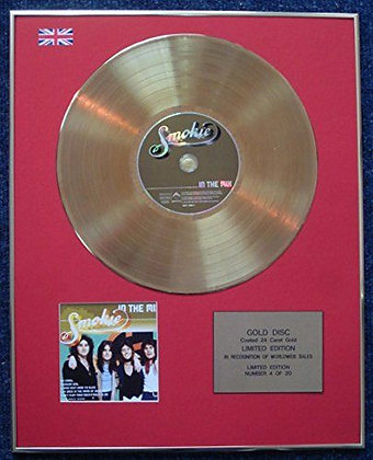 Smokie - Limited Edition CD 24 Carat Gold Coated LP Disc - In The Mix