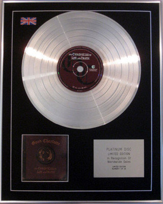 GOOD CHARLOTTE -Limited Edition CD Platinum Disc- CHRONICLES OF LIFE AND DEATH
