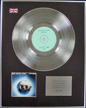 JEAN MICHEL JARRE - Limited Edition CD Platinum Disc - OXYGENE