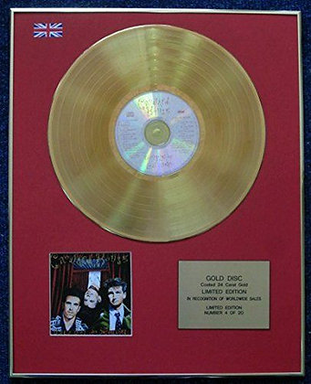 Crowded House - Limited Edition CD 24 Carat Gold Coated LP Disc - Together Alone