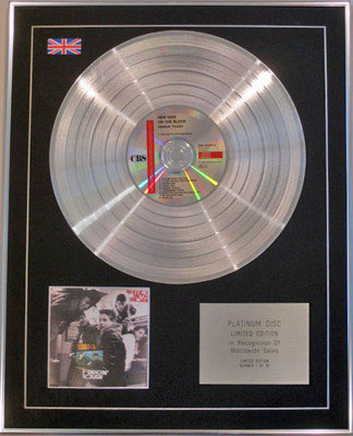 NEW KIDS ON THE BLOCK - Limited Edition CD Platinum Disc - HANGIN' TOUGH