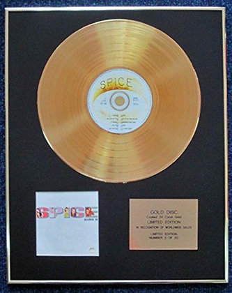 Spice Girls - Limited Edition CD 24 Carat Gold Coated LP Disc - Spice