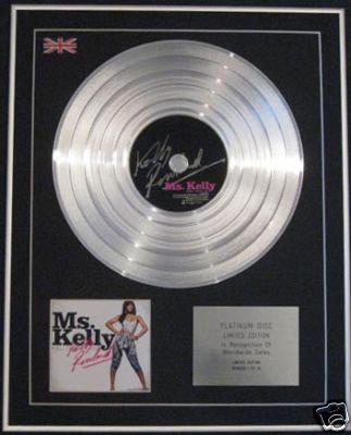 KELLY ROWLAND -Ltd Edition CD Platinum Disc - MS.KELLY