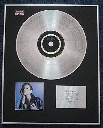 Dua Lipa - Limited Edition CD Platinum LP Disc - Dua Lipa