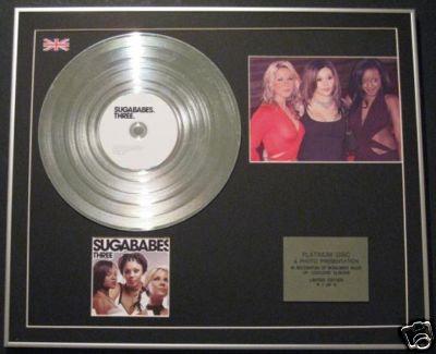 SUGABABES - Ltd Edtn CD Platinum Disc+Photo - THREE