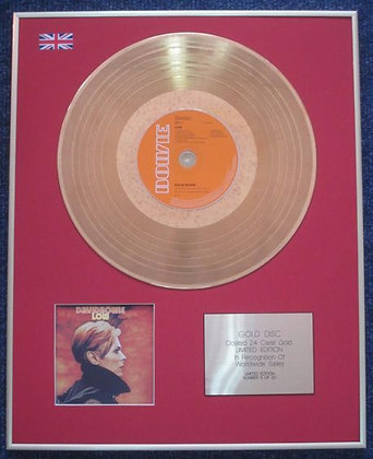 DAVID BOWIE - Limited Edition CD 24 Carat Gold Coated LP Disc -  LOW