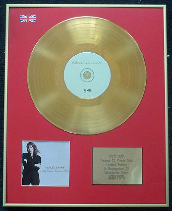 Carly Simon - Limited Edition CD 24 Carat Gold Coated LP Disc - Reflections Grea