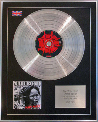 NAILBOMB - Limited Edition CD Platinum Disc - POINT BLANK