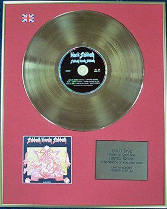 BLACK SABBATH - CD 24 Carat Coated Gold Disc - SABBATH BLOODY SABBATH