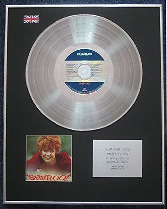 Cilla Black - Limited Edition CD Platinum LP Disc - Sher-oo