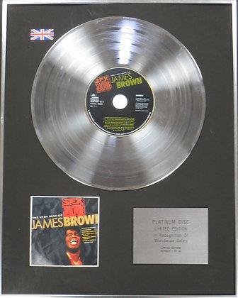 JAMES BROWN - Limited Edition CD Platinum Disc - SEX MACHINE