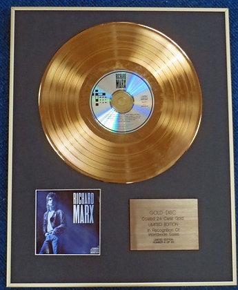RICHARD MARX - Limited Edition CD 24 Carat Gold Coated LP Disc -'RICHARD MARX'