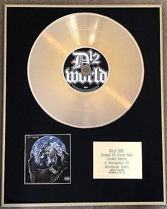 vD12 (Eminem etc) - Limited Edition CD 24 Carat Gold Coated LP Disc - D12 WORLD