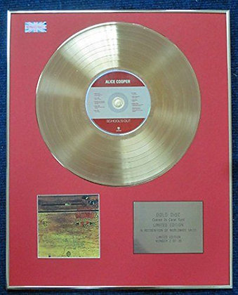 Alice Cooper - Limited Edition CD 24 Carat Gold Coated LP Disc - School's Out