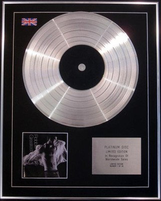 ROBBIE WILLIAMS - Limited Edition CD Platinum Disc - GREATEST HITS