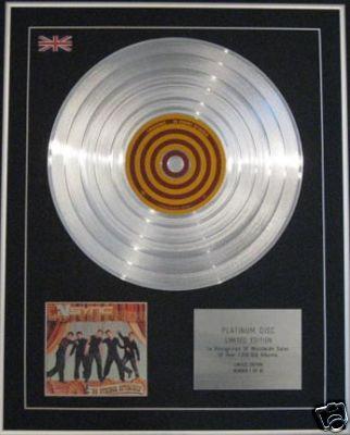 N SYNC - Ltd Edtn CD Platinum Disc- NO STRINGS ATTACHED