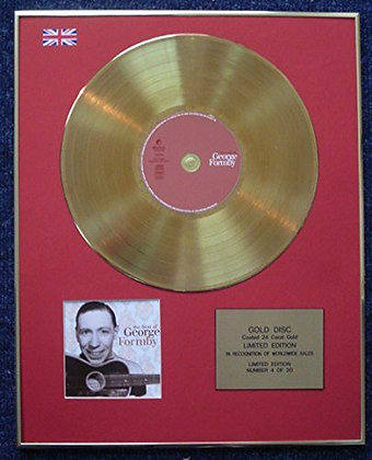 George Formby - Limited Edition CD 24 Carat Gold Coated LP Disc - The Best of