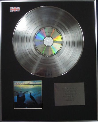 ROXY MUSIC - Limited Edition CD Platinum Disc - AVALON