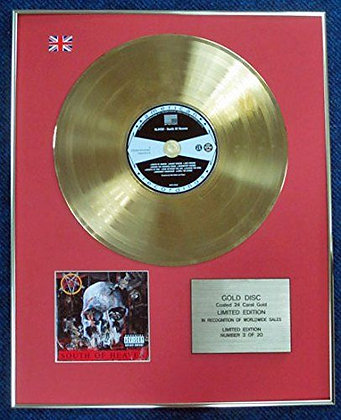 Slayer - Limited Edition CD 24 Carat Gold Coated LP Disc - Made in Heaven