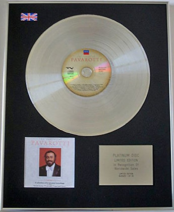 PAVAROTTI - Limited Edition CD Platinum Disc - THE ESSENTIAL