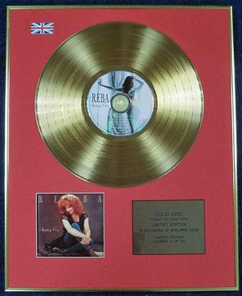 REBA MCENTIRE - Ltd Edition CD 24 Carat Coated Gold Disc - STARTING OVER