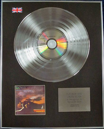 GENESIS - Limited Edition CD Platinum Disc - AND THEN THERE WERE THREE