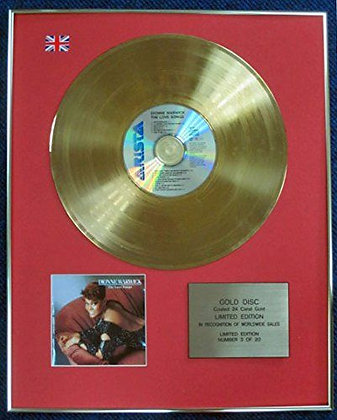 Dionne Warwick - Limited Edition CD 24 Carat Gold Coated LP Disc - Love Songs