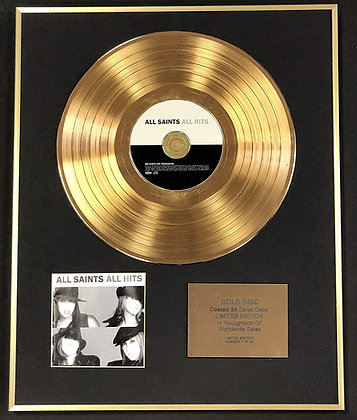 All Saints - Exclusive Limited Edition 24 Carat Gold Disc - All Hits