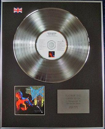 DAVID BOWIE - Limited Edition CD Platinum Disc - LET'S DANCE