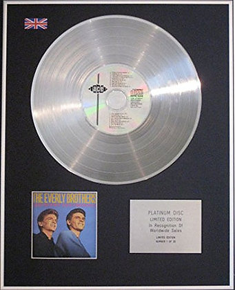 EVERLY BROTHERS - CD Platinum Disc - GREATEST RECORDINGS