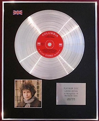 BOB DYLAN - CD Platinum Disc - BLONDE ON BLONDE