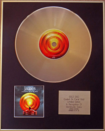 JAMES - Exclusive Limited Edition 24 Carat Gold Disc - GIRL AT THE END OF THE WO