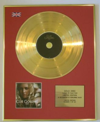 ELLIE GOULDING - Ltd Edtn CD Gold Disc - LIGHTS