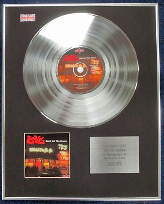 LOVE - Limited Edition CD Platinum Disc - BACK ON THE SCENE